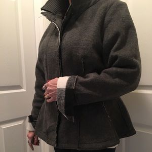 Lane Bryant Peplum Coat